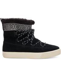 TOMS   Waterproof Black Suede Women's Alpine Boots   Lyst