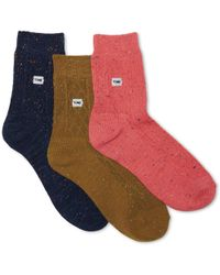 TOMS - 3 Pack Cable Knit Ankle Socks - Lyst