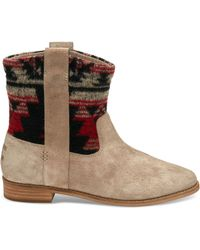 TOMS - Desert Taupe Suede Women's Laurel Boots - Lyst