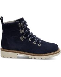TOMS - Waterproof Navy Suede Women's Summit Boots - Lyst