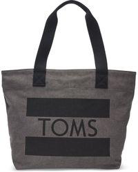 TOMS - Charcoal Flag Transport Tote Bag - Lyst