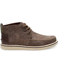 425e124e570 TOMS - Dark Earth Herringbone leather Men s Chukka Boots - Lyst