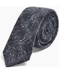 TOPMAN - Grey And Blue Check Tie - Lyst
