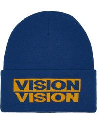 TOPMAN - Vision Street Wear Blue And Yellow Beanie - Lyst