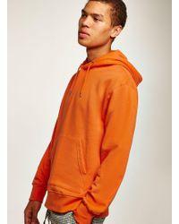 TOPMAN - Orange Overhead Hoodie - Lyst