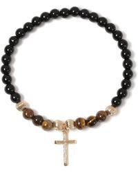 TOPMAN - Cross Beaded Bracelet - Lyst