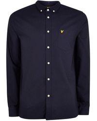 TOPMAN - Lyle & Scott Navy Oxford Shirt - Lyst