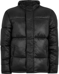 TOPMAN - Black Puffer Jacket - Lyst