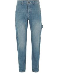 TOPMAN - Vintage Wash Carpenter Jeans - Lyst