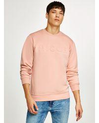 Nicce London - Pink Embossed Logo Sweatshirt - Lyst