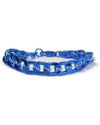 TOPMAN - Blue Chunky Bracelet - Lyst