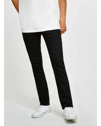 TOPMAN - Black Oil Coated Stretch Slim Fit Jean - Lyst