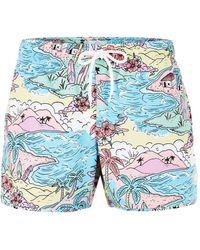 TOPMAN - Hawaiian Cartoon Swim Short - Lyst