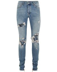 TOPMAN - Light Wash Stacker Side Taping Jean - Lyst