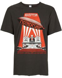 Amplified - Washed Grey Led Zeppelin Graphic Print T-shirt* - Lyst