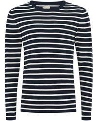 TOPMAN - Navy Stripe T-shirt - Lyst