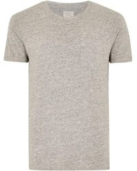 TOPMAN - Elected Homme Grey Slim T-shirt - Lyst