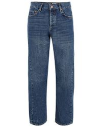 TOPMAN - Dark Wash Twisted Leg Jean - Lyst