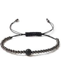 TOPMAN - Black Beaded Bracelet - Lyst