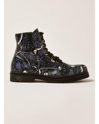 TOPMAN - Leather Forge Print Boot - Lyst