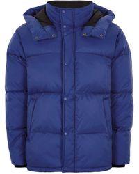 TOPMAN - Vision Street Wear Blue Ripstop Puffer Jacket - Lyst