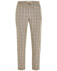 TOPMAN - Tone Check Side Taping Jogger - Lyst