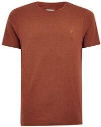TOPMAN - Farah Rust Marl 'denny' Slim T-shirt - Lyst