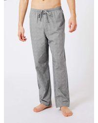 CALVIN KLEIN 205W39NYC - Grey Check Pyjama Bottoms - Lyst