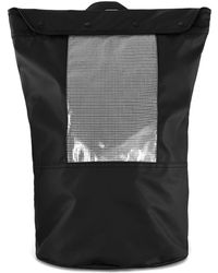 TOPMAN - Black Grid Pvc Backpack - Lyst