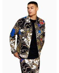 Jaded - Multicoloured Clash Denim Jacket - Lyst