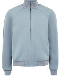 TOPMAN - Light Blue Track Top With Side Panel - Lyst