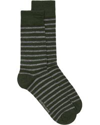 TOPMAN - Elected Homme Green And Gray Stripe Sock - Lyst
