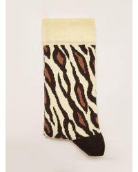 TOPMAN - Ecru 'giraffe' Sock - Lyst