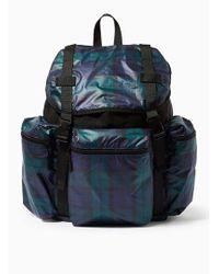 TOPMAN - Black Watch Nylon Backpack - Lyst