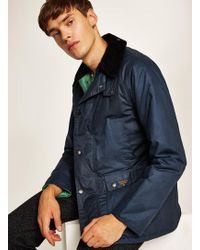 TOPMAN - Barbour Beaconwax Jacket - Lyst