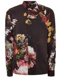 TOPMAN - Twisted Tailor Multicoloured 'orion' Slim Shirt - Lyst