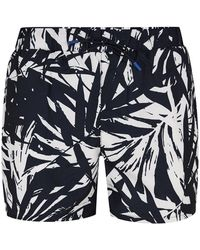 TOPMAN - Navy Banana Leaf Swim Short - Lyst