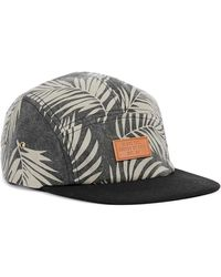 Globe - Grey Palm Print 5 Panel Cap* - Lyst