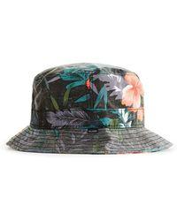 Globe | Black Leaf Print Bucket Hat* | Lyst