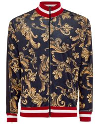 Jaded - Black And Gold Baroque Velvet Track Top - Lyst
