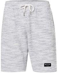 Nicce London - Grey Space Dye Shorts - Lyst