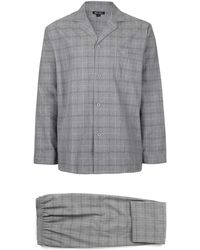 TOMS - Wolsey Grey Check Pyjama Set - Lyst