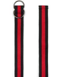 TOPMAN - Black And Red Stripe Belt - Lyst