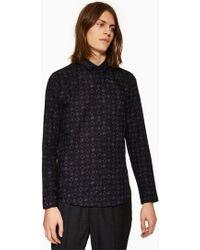 TOPMAN - Tile Geometric Print Slim Shirt - Lyst