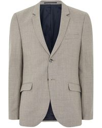 TOPMAN - Stone Merino Wool Blend Skinny Suit Jacket - Lyst