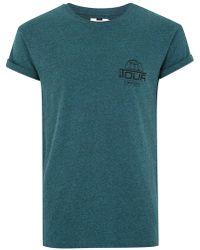 TOPMAN - Teal 'tour' Salt And Pepper T-shirt - Lyst