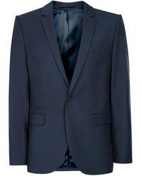TOPMAN - Mid Blue Skinny Fit Suit Jacket - Lyst