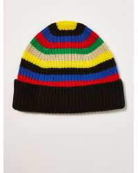dd7c225913c Lyst - TOPMAN Multi Block Stripe Beanie in Blue for Men
