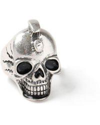 TOPMAN - Ilver Skull Ring - Lyst