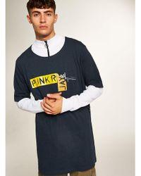 d84d1b2a Topman Black 'thugger' T-shirt in Black for Men - Lyst